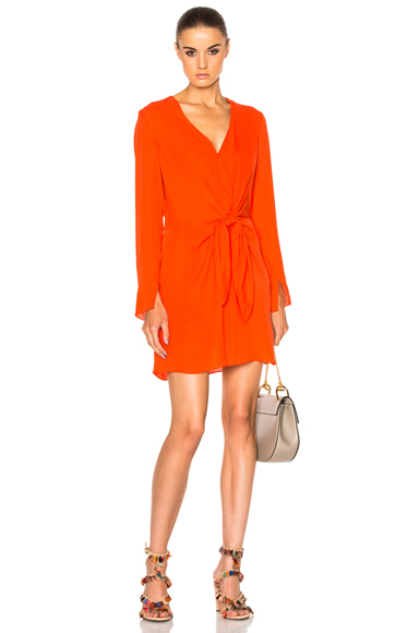 Long Sleeve Front Knot Dress