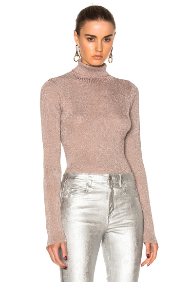 Lurex Turtleneck Sweater