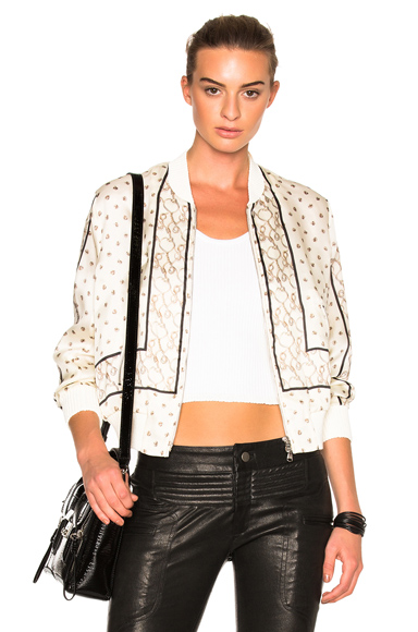 Scarf Printed Bomber