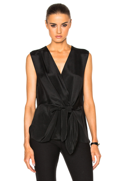 Sleeveless Front Knot Top