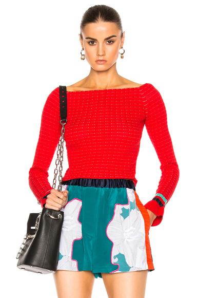 Long Sleeve Off Shoulder Pullover
