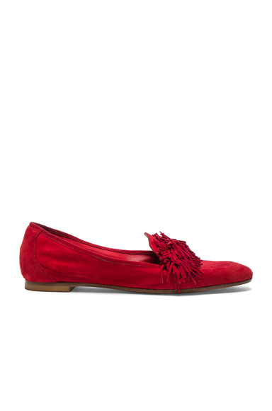 Suede Wild Loafer Flats
