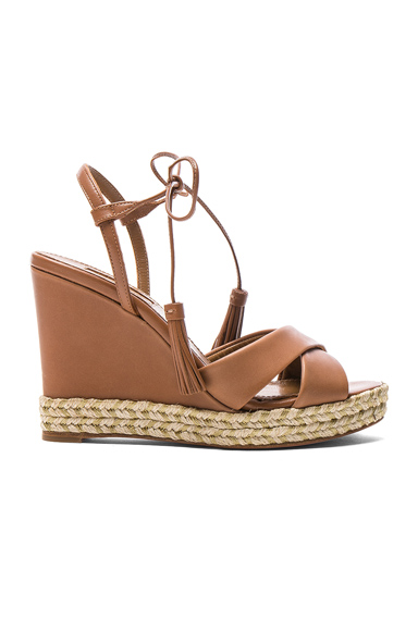 Leather Paraty Espadrille Wedges
