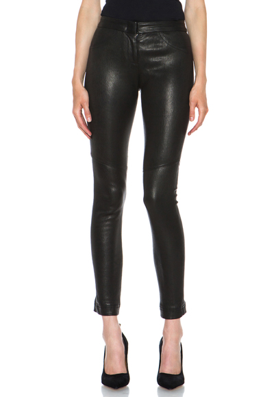 Misa French Stretch Leather Pant