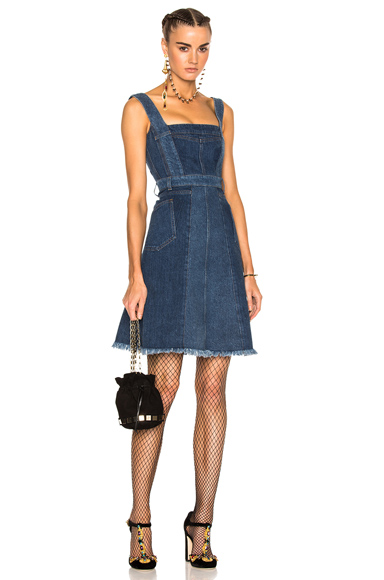 Patchwork Denim Sleeveless Dress