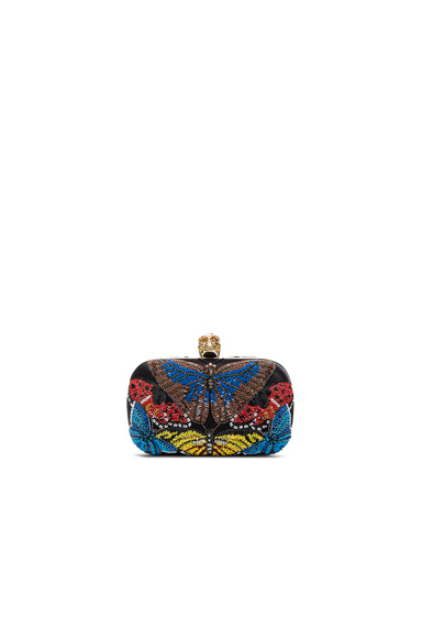 Butterfly Skull Clutch with Chain