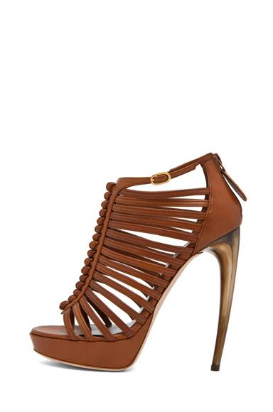 Strappy Sandal w/ Bone Heel