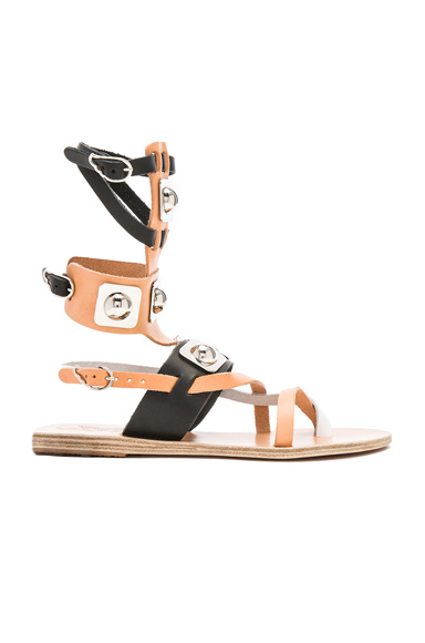 x Peter Pilotto Leather Low Gladiator Sandals