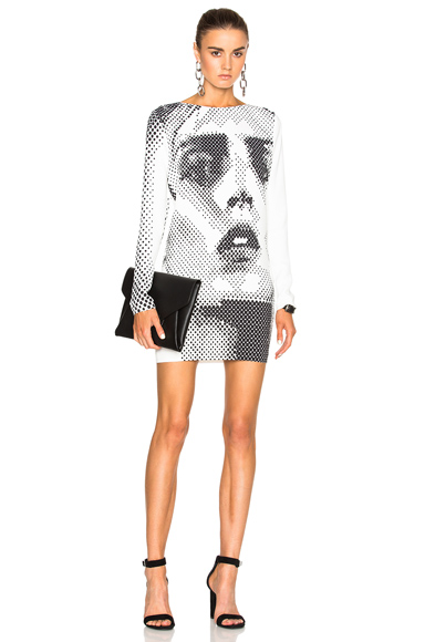 Anja Print Sweatshirt Dress