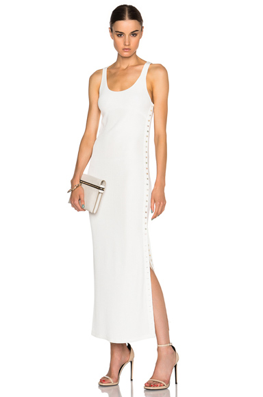 Fiana Structured Jersey Maxi Dress