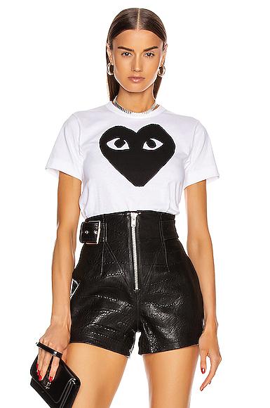 Cotton Black Heart Emblem Tee