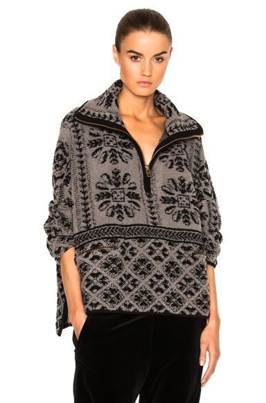 Mini Fur Stitch Jacquard Sweater