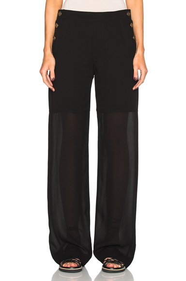 Fine Sheer Crepe Pants