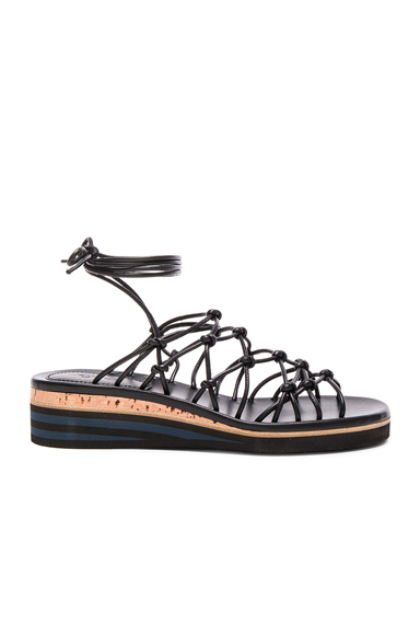 Leather Net Sandals