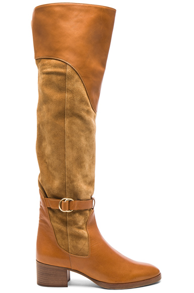 Suede Lenny Over the Knee Boots