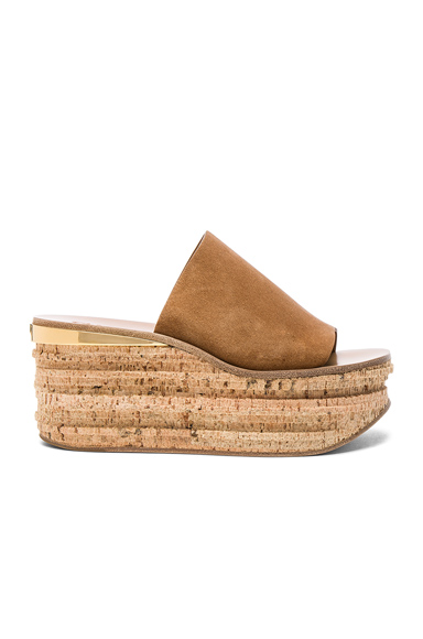 Suede Camille Wedge Sandals