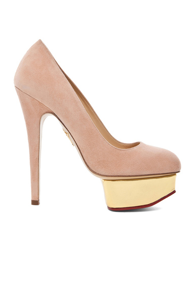 Dolly Signature Court Island Suede Pumps