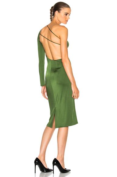 Claudia Gloss Jersey One Sleeve Dress