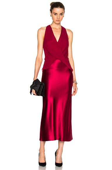 Silk Satin Twist Dress