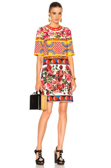 Printed Textured Cotton Dress