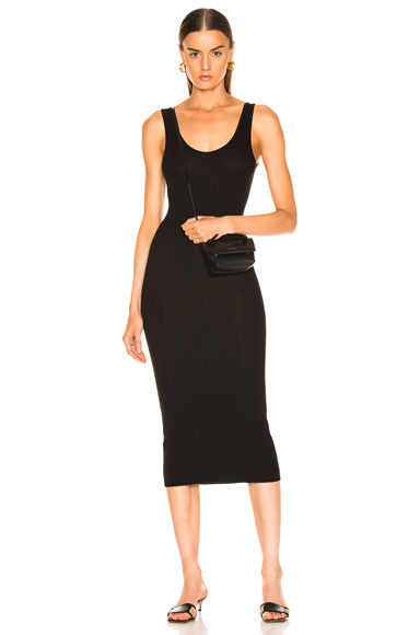 Rib Tank Viscose-Blend Dress