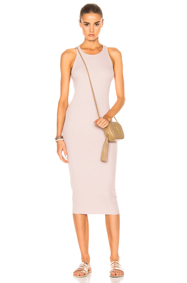 Rib Sheath Tank Midi Dress