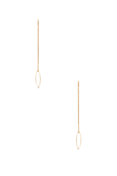 14K Gold Asymmetric Ring Earring
