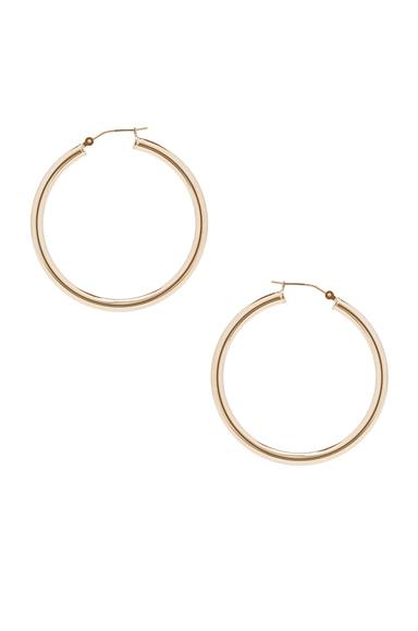14K Gold Hoop X Earring