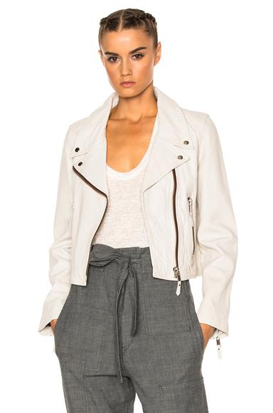 Aken Washed Leather Jacket