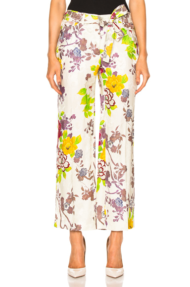 Belted Printed Trousers