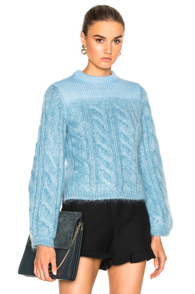 Cable Silk Mohair Sweater
