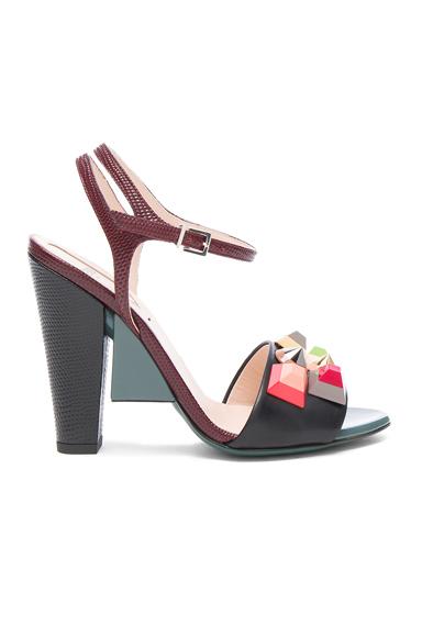 Embossed Leather Fantasia Heels