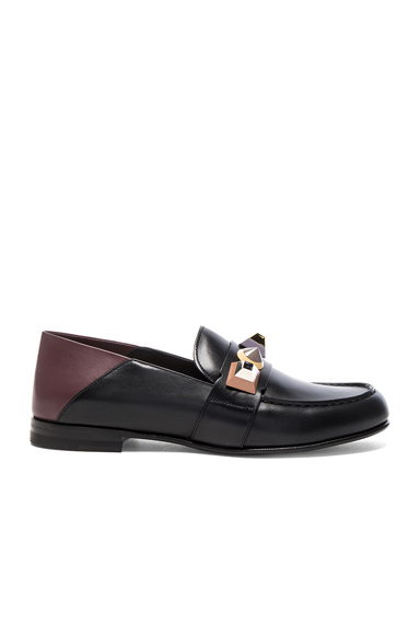 Stud Leather Loafers