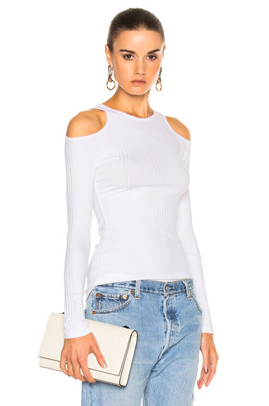 Variegated Cut Out Long Sleeve
