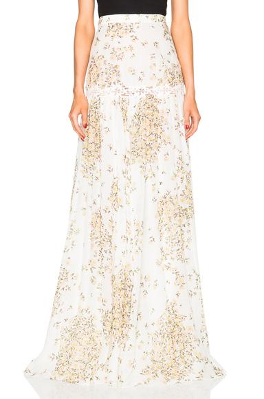 Daisy Print Georgette Skirt