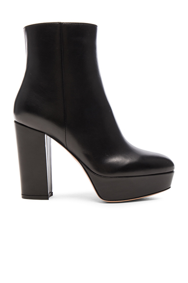 Platform Leather Boots