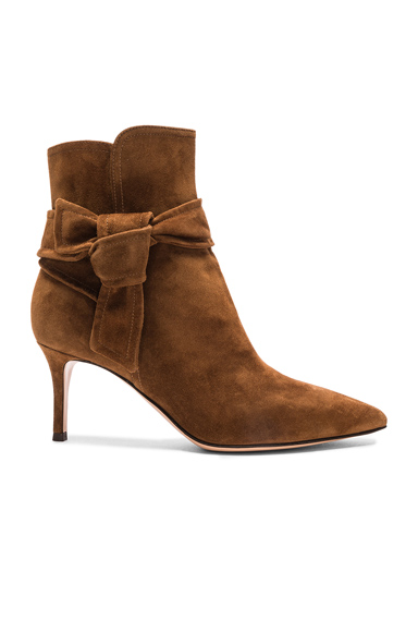 Suede Bow Booties