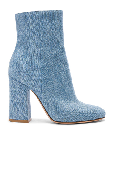 Denim Shelly Booties