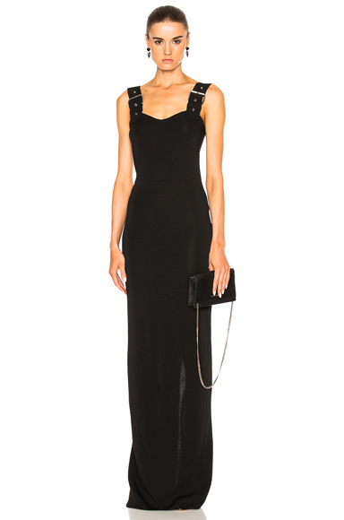 Buckle Strap Maxi Dress