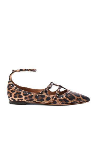 Piper Leopard Print Leather Ballerina Flats