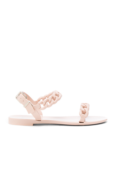 Chain Link Jelly Sandals