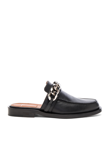 Chain Leather Loafers