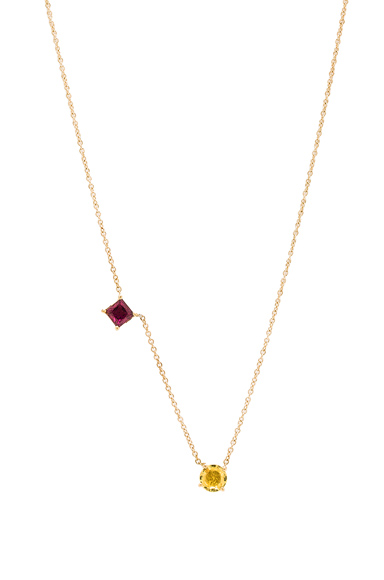 Round & Square Necklace