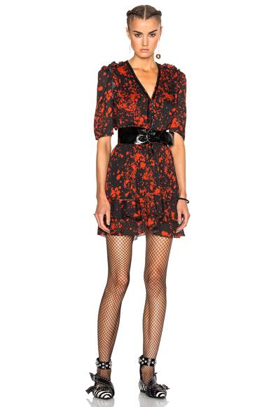 Irina Printed Silk Dress