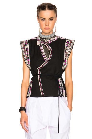 Blaine Embroidered Coat Vest
