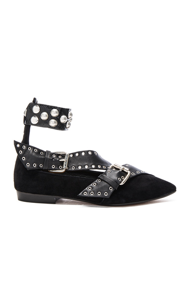 Suede Linzy Eyelet Flats