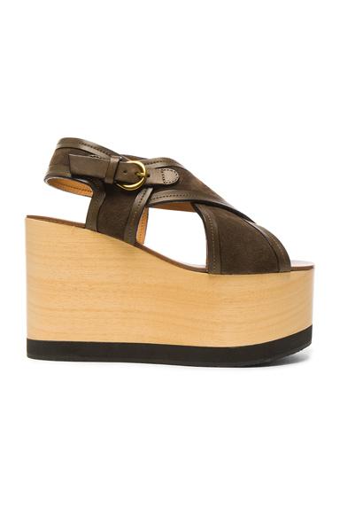 Suede Zlova Wedge Sandals