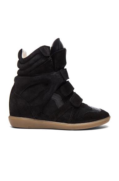 Bekett Calfskin Velvet Leather Sneakers