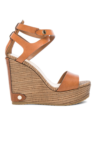 Leather Noelle Wedges