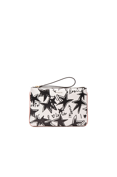 Large Stars Print Pouch